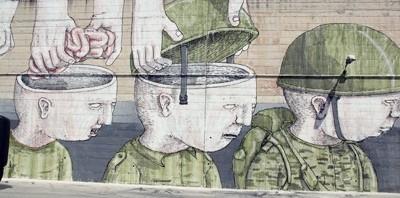 Street art, gare de Campobasso Italie