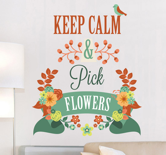 autocollant-mural-keep-calm-pick-flowers