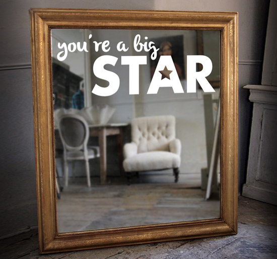 sticker-miroir-you-are-a-big-star