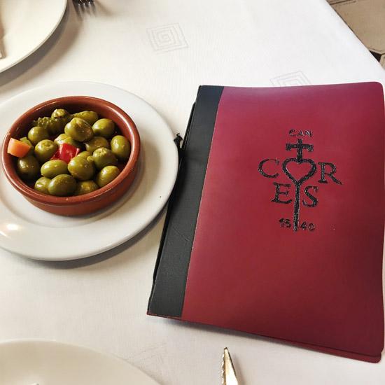 Repas catalan chez Can Cortés