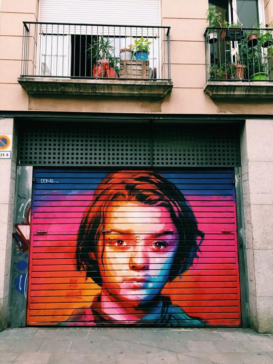 Street Art spécial séries à Gràcia