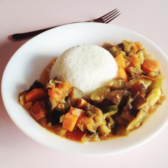 Recette : riz & ratatouille